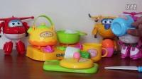 超级飞侠 乐迪变形机器人 多多 小爱与水果切切看厨房亲子玩具