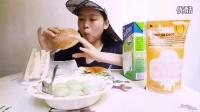 绿茶汤圆加美味面包552中国吃播,国内吃播,歪丝投稿吃出个未来·吃饭