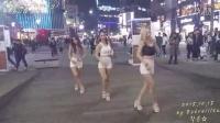 为了美拼了!女舞团不畏严寒街头性感短裤直接跪地表演 美爆了