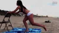 沙滩热裤性感臀部练习