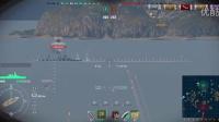 051战舰世界美服BB被削之后金刚的日常1----HE一轮秒满血纽伦堡,AP打巡洋舰0伤害