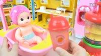 【玩具人家】娃娃沐浴振动筛玩具 早教亲子儿童游戏 迪士尼公主巧克力棒棒糖灰姑娘白雪公主