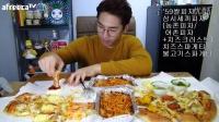 【微博@学姐宿舍】奔驰哥吃播151019-披萨2个+芝士焗意粉+烤肉焗意粉