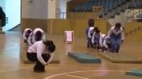 初中八年级体育《远撑前滚翻》教学视频,高中体育名师工作室教学视频