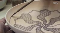 日本传统艺术画盘子
