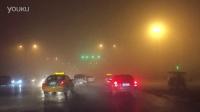 今天西安的雾霾 开车开着开着像进了另一个星球