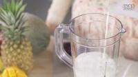 紫薯米饭牛奶羹