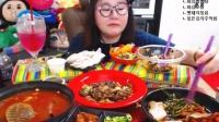 【微博@学姐宿舍】爱凤吃播-炒肉+海鲜乌冬+鱼籽饭+包肉