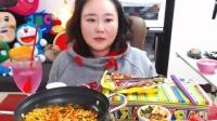 【微博@学姐宿舍】爱凤吃播-海鲜面