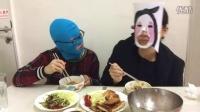 中国吃播-聊减肥&韩剧【微博@学姐宿舍】芝士炸猪排+菠菜蛋饼+番茄鸡蛋青菜面