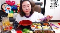 【微博@学姐宿舍】爱凤吃播-烤肉+鲍鱼