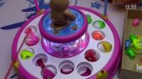 儿童钓鱼玩具套装 电动旋转音乐带装鱼抽屉 亲子