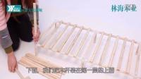 简易布衣柜实木组装安装视频 带隔层布