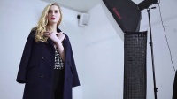 曼琳米兰2016新款双面绒羊毛大衣拍摄花絮