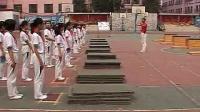 小学五年级体育教学视频《箱上前滚翻障碍接力》第四届全国体育观摩课教学视频