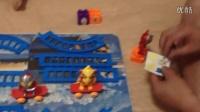 153. 亲子游戏 萌宝和爸爸组装 乐高玩具 奥特曼战车开火车打怪兽动画片 玩具总动员