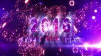 震撼绚丽2016新年快乐倒计时 闪耀炫光烟花四射LED背景视频素