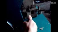 方管冲45度角视频佛山联动机械铝合金防盗网冲孔机厂家