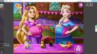 ☆【冰雪奇缘】★长发公主与爱莎怀孕♥照顾宝宝