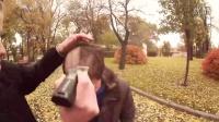 【俄罗斯著名富三代】给多少钱路人会愿意被剃光头 搞笑视频