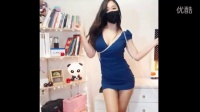 韩国神秘美女主播女刺客蓝色超短裙性感舞蹈精华版