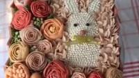vincy-misswang豆沙裱花作品之小兔子花盒