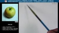 色彩基础 色彩入门 水粉静物 绿苹果的画法步骤(一)