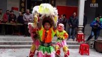 2016年横江村醒狮盛会-沙贝3位小朋友醒狮表演采盆青-简氏大宗祠