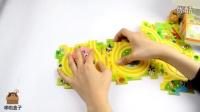 哆啦盒子玩具时间 2016 面包超人 红豆面包超人 发条拼图轨道 01