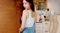 朴佳琳韩国美女主播超短背带牛仔裤直播间内热舞视频秀_标清