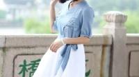 2016新品包邮森女部落修身显瘦休闲优雅简约文艺可爱复古连衣裙