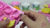 粉红猪小妹 培乐多的蛋糕制作 培乐多粉红猪小妹烹煮食物 玩具橡皮泥冰淇淋