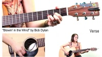 "How to Play ""Blowing in the Wind"" by Bob Dylan on Guitar"