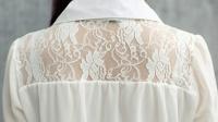 2016新款春夏装韩版雪纺5分袖中款显瘦连衣裙白色裙子A字裙学