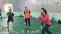 羽毛球视频教学-肖杰[学打羽毛球]5.正手发后场高远球练习方法