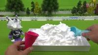 面包超人玩具和Awaawa软冰淇淋的软冰淇淋