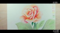 艺同文化  彩铅花卉预告片:粉黄色月季