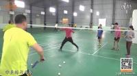 美女教练在线教球第16期精华版 杜杜教练 羽毛球双打接发球