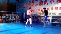 山东省第二届武术馆校赛,王尊龙第一回合比赛,