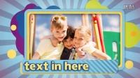 AE模板3928-卡通儿童可爱相框图片相册展示