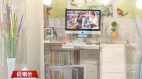 纯实木电脑桌带书架台式家用书桌书柜组合松木写字桌儿童学习