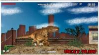 【学妹解说】恐龙咬碎汽车 霸王龙侵袭家园 早教益智小游戏