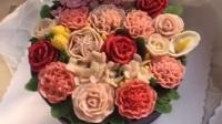 #韩式裱花##豆沙裱花#蛋糕
