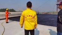 桂林新一代大型液压喷涂机JS丙烯酸防水涂料喷涂施工应用