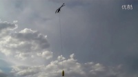 RC Helicopter long line on 15ft rope.  Experimen