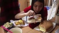 炜琳-巨无霸蛋糕山东大饼双拼饭【处女座的吃货】中国吃播,国内吃播,炜琳投稿吃出个未来·吃饭直播,大吃货爱美食,大胃王,减肥,美食人生,吃饭秀