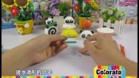 卡乐淘超轻粘土DIY-熊猫蛋糕杯示范教学