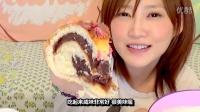 [K分享] 吃货木下:有樱花花瓣的特大红豆面包+牛奶!《中文字幕》