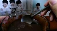 :品尝自制酸奶巧克力