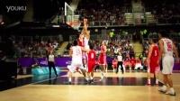 Yi massive dunk on Croatia~s defense